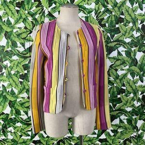 Missoni Sport Color Striped Button Up Jacket